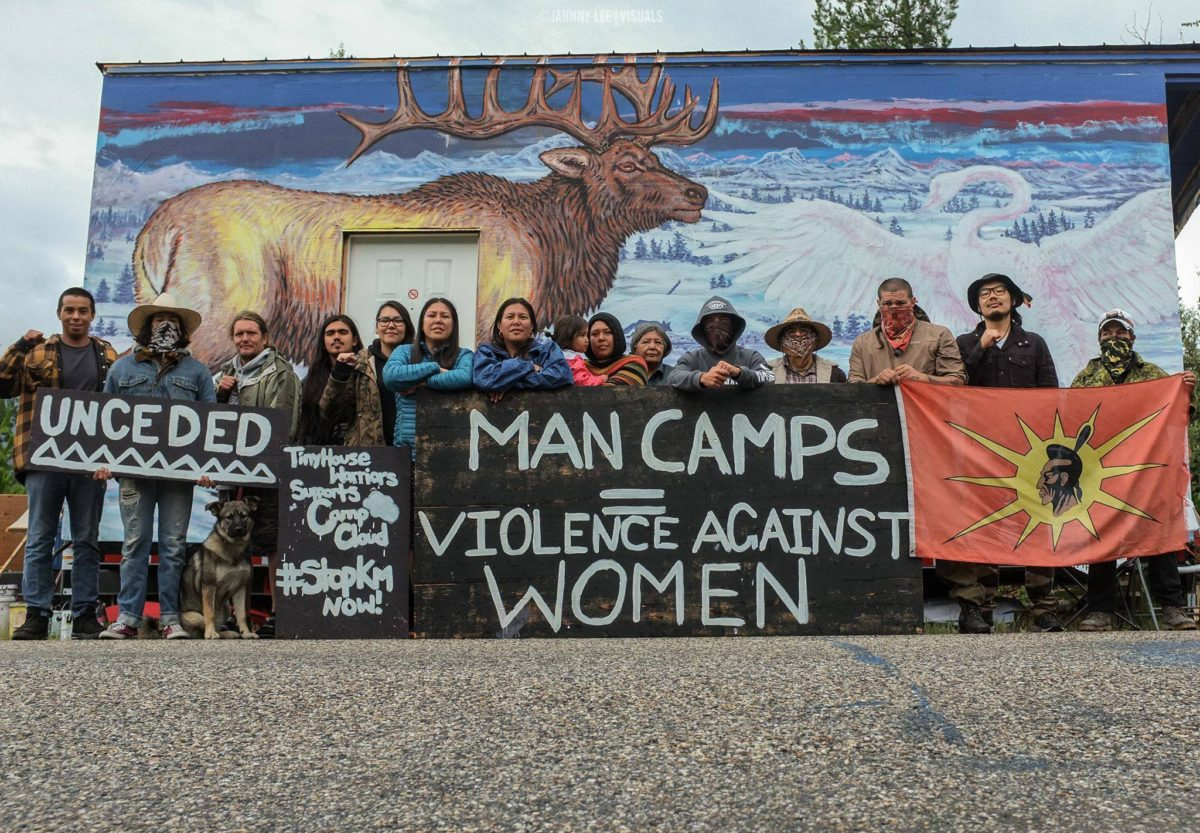 Man Camps = Violence Against Women Image